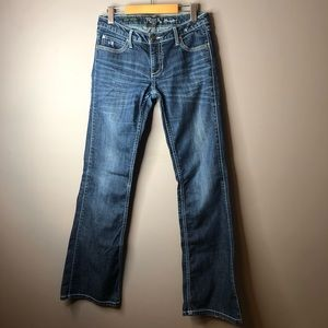 Wrangler rock 47 bootcut jeans size 5